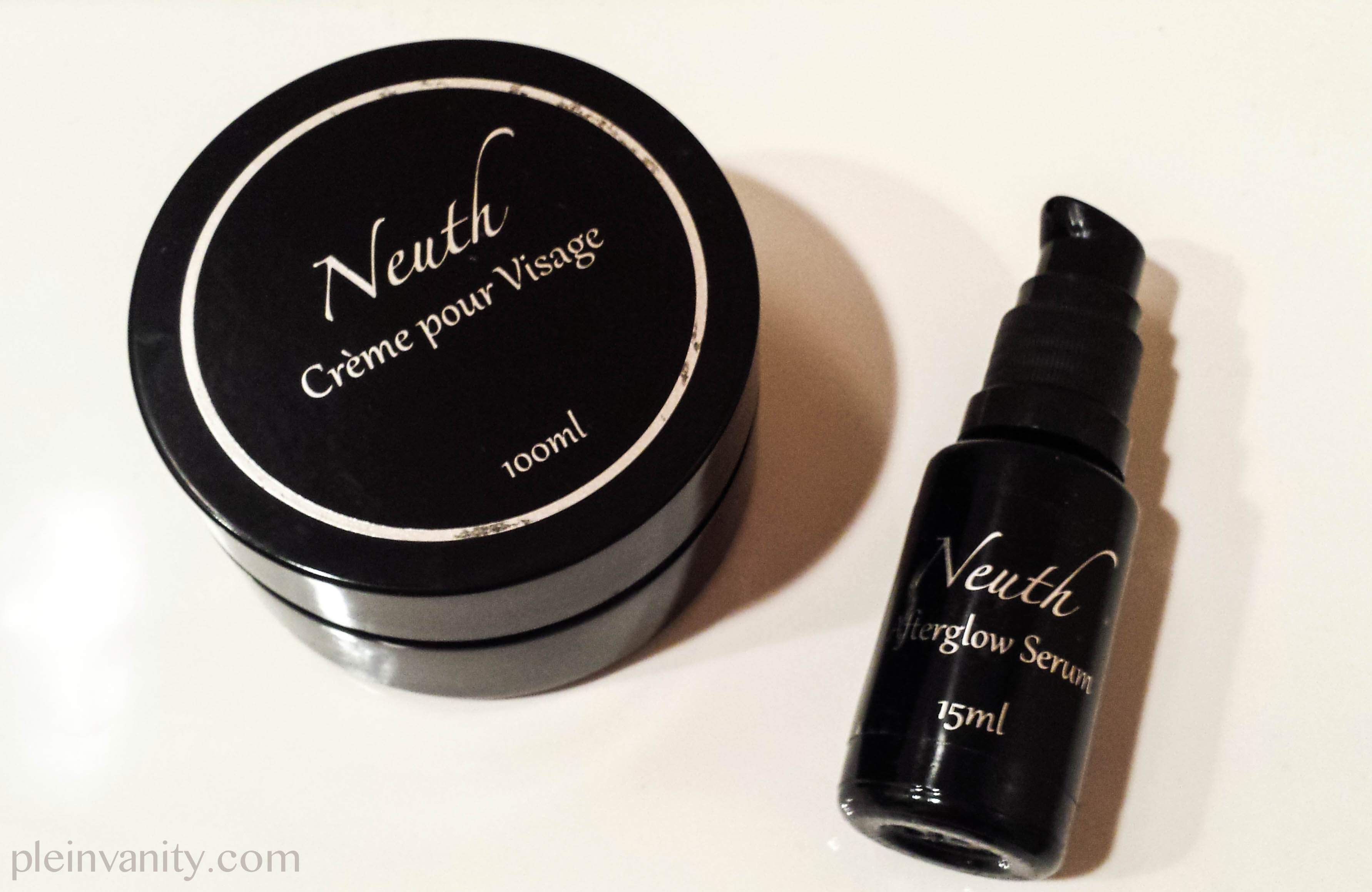 neuth creme pour visage and afterglow serum review discount plein vanity. Black Bedroom Furniture Sets. Home Design Ideas